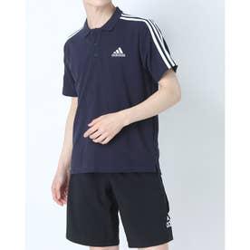 メンズ 半袖ポロシャツ MESS3ストライプスPQポロシャツ GK9100 (ネイビー)