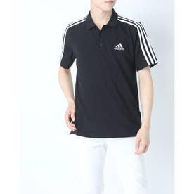 メンズ 半袖ポロシャツ MESS3ストライプスPQポロシャツ GK9097 (ブラック)