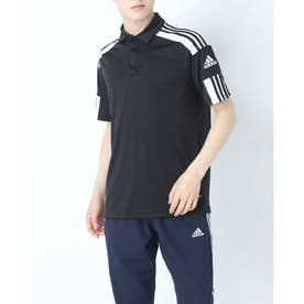 メンズ サッカー/フットサル 半袖シャツ SQUADRA21ポロ GK9556 (ブラック)