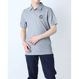 メンズ ゴルフ 半袖シャツ PRIMEBLUE エンブレム 半袖シャツ GL9992 (ブラック)