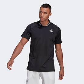 クラブ テニス リブポロシャツ / Club Tennis Ribbed Polo Shirt (ブラック)