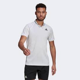 クラブ テニス リブポロシャツ / Club Tennis Ribbed Polo Shirt (ホワイト)