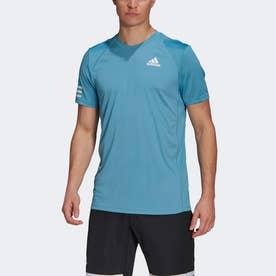 クラブ テニス 3ストライプス 半袖Tシャツ / Club Tennis 3-Stripes Tee (ブルー)