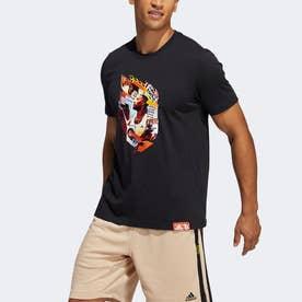 デイム アブストラクション 半袖Tシャツ / Dame Abstraction Tee (ブラック)