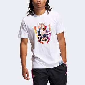 ドノバン・ミッチェル アブストラクション 半袖Tシャツ / Donovan Mitchell Abstraction Tee (ホワイト)