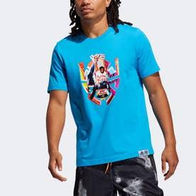 ドノバン・ミッチェル アブストラクション 半袖Tシャツ / Donovan Mitchell Abstraction Tee (ブルー)