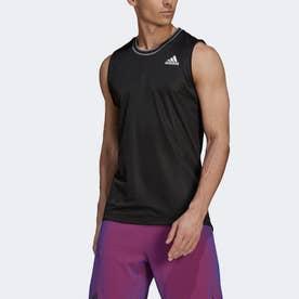 テニス  PRIMEBLUE ノースリーブシャツ / Tennis Primeblue Sleeveless Shirt (ブラック)