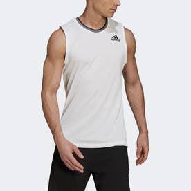 テニス  PRIMEBLUE ノースリーブシャツ / Tennis Primeblue Sleeveless Shirt (ホワイト)