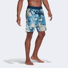 ニーレングス グラフィック ボードショーツ / Knee-Length Graphic Board Shorts 【返品不可商品】(ブルー)