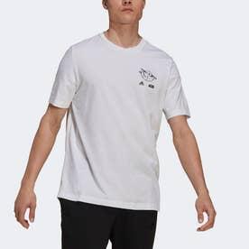 × Star Wars:マンダロリアン ザ・チャイルド グラフィック 半袖Tシャツ (ホワイト)