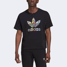 ラブ ユナイツ トレフォイル Tシャツ(ジェンダーニュートラル) (ブラック)