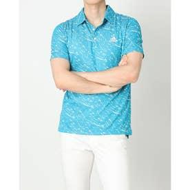 メンズ ゴルフ 半袖シャツ PRIMEBLUE 半袖ジャカードシャツ GU5147 (ブルー)