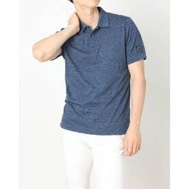 メンズ ゴルフ 半袖シャツ ADICROSS アイスプリント 半袖シャツ GU6335 (ネイビー)