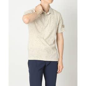 メンズ ゴルフ 半袖シャツ ADICROSS アイスプリント 半袖シャツ GR4300 (ベージュ)