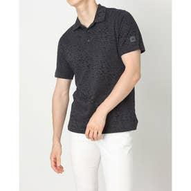 メンズ ゴルフ 半袖シャツ ADICROSS アイスプリント 半袖シャツ GU6337 (グレー)