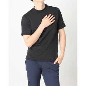 メンズ ゴルフ 半袖シャツ ADICROSS ヒートシールポケット 半袖モックネックシャツ GU8762 (ブラック)