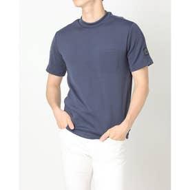 メンズ ゴルフ 半袖シャツ ADICROSS ヒートシールポケット 半袖モックネックシャツ GU8760 (ネイビー)