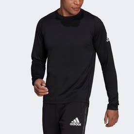 AEROREADY フリーリフト デザインド トゥ ムーブ スポーツ長袖Tシャツ (ブラック)