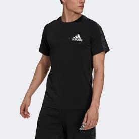 AEROREADY デザインド トゥ ムーブ スポーツ モーション ロゴ 半袖Tシャツ (ブラック)