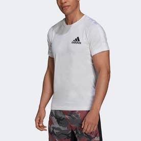 AEROREADY デザインド トゥ ムーブ スポーツ モーション ロゴ 半袖Tシャツ (ホワイト)
