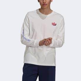 ファニー Dino 長袖Tシャツ (ホワイト)