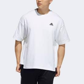 半袖バッジTシャツ (ホワイト)