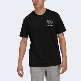× Star Wars:マンダロリアン ザ・チャイルド グラフィック 半袖Tシャツ (ブラック)