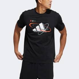 グラフィック バッジ オブ スポーツ + 半袖Tシャツ (ブラック)