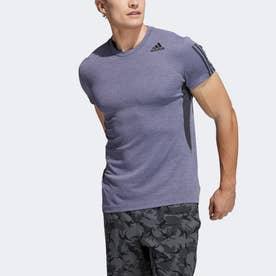 HEAT. RDY 3ストライプス 半袖Tシャツ / HEAT. RDY 3-Stripes Tee (パープル)