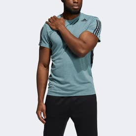 HEAT. RDY 3ストライプス 半袖Tシャツ / HEAT. RDY 3-Stripes Tee (グリーン)