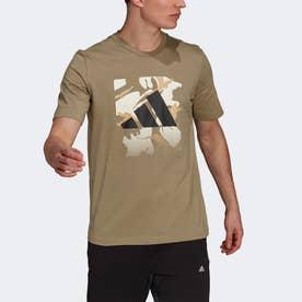 グラフィック 半袖Tシャツ (グリーン)