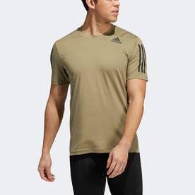 テックフィット 3ストライプス フィッティド 半袖Tシャツ / Techfit 3-Stripes Fitted Tee (グリーン)