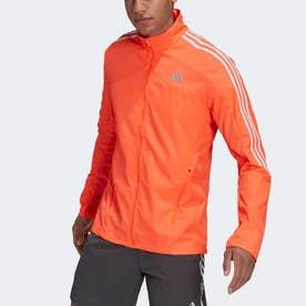 マラソン 3ストライプス ジャケット / Marathon 3-Stripes Jacket (レッド)