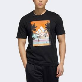 半袖フォトTシャツ (ブラック)