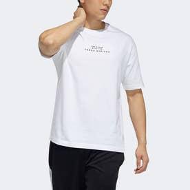 エンブロイダード 半袖Tシャツ (ホワイト)