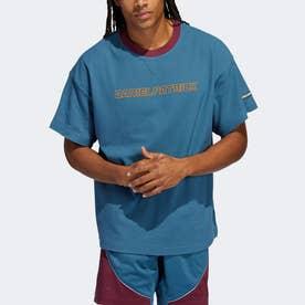 ダニエル・パトリック × バスケットボール 半袖サーマルTシャツ (ブルー)