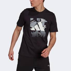 グラフィック 半袖Tシャツ (ブラック)
