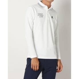 メンズ ゴルフ 長袖シャツ ADIDASエンブロイダリーL/Sポロ HA1320 (ホワイト)
