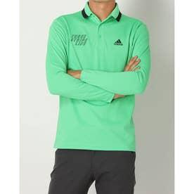 メンズ ゴルフ 長袖シャツ ADIDASエンブロイダリーL/Sポロ HA1323 (グリーン)