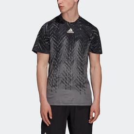 テニス プライムブルー フリーリフト プリント半袖Tシャツ (グレー)