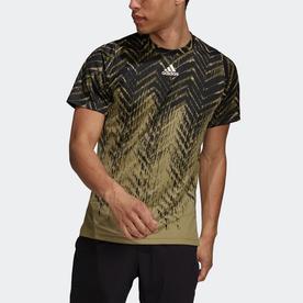 テニス プライムブルー フリーリフト プリント半袖Tシャツ (グリーン)