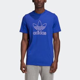 トレフォイルロゴ アウトライン Tシャツ (ブルー)