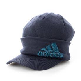 メンズ ゴルフ ニット帽子 ロゴバイザーニットキャップ GU8620 (ネイビー)