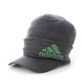 メンズ ゴルフ ニット帽子 ロゴバイザーニットキャップ GU8635 (グレー)