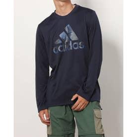 メンズ 長袖機能Tシャツ MESSCAMOロングTシャツ HB5079 (ネイビー)
