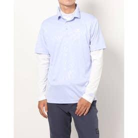 メンズ ゴルフ セットシャツ PRIMEGREEN エンボスパターン UPF50+レイヤードシャツ GU6123 (他)