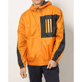 メンズ ウインドジャケット MWNDPBウーブンフードジャケット H56356 (オレンジ)