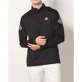 メンズ ゴルフ 長袖シャツ AERO.RDY ストレッチ長袖ボタンダウンシャツ GT5860 (ブラック)