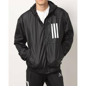 メンズ ウインドジャケット MWNDPBウーブンフードジャケット H42037 (ブラック)