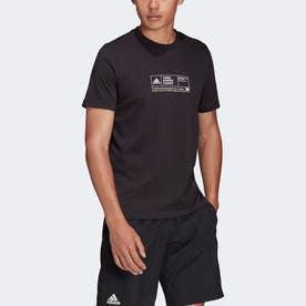 NYC テニス グラフィック 半袖Tシャツ (ブラック)